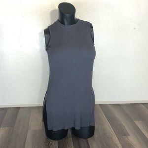 Saks Fifth Avenue Small S/P Sleeveless Gray Top